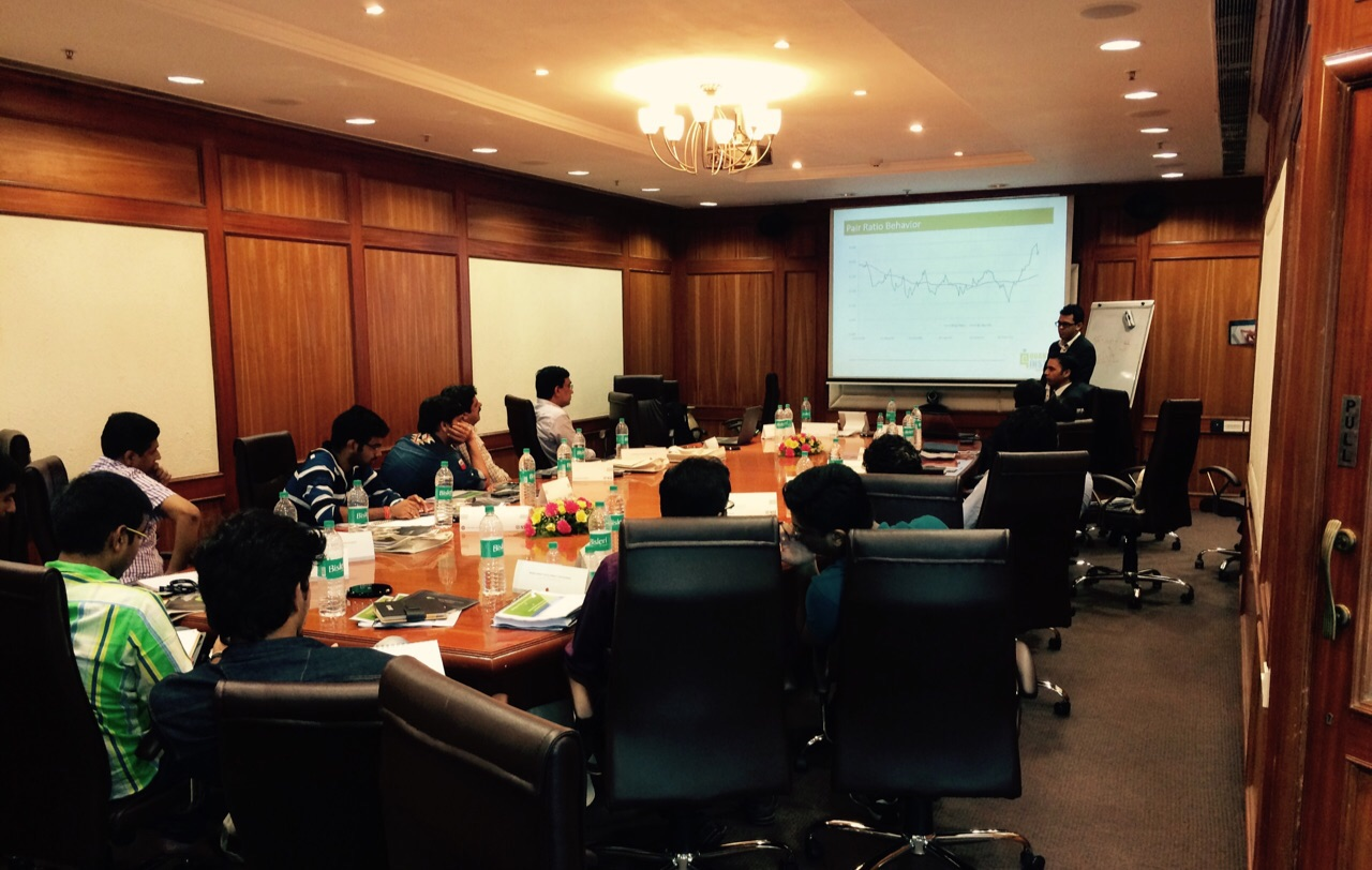 Algorithmic Trading Workshop in MDP by NSE – June 2015