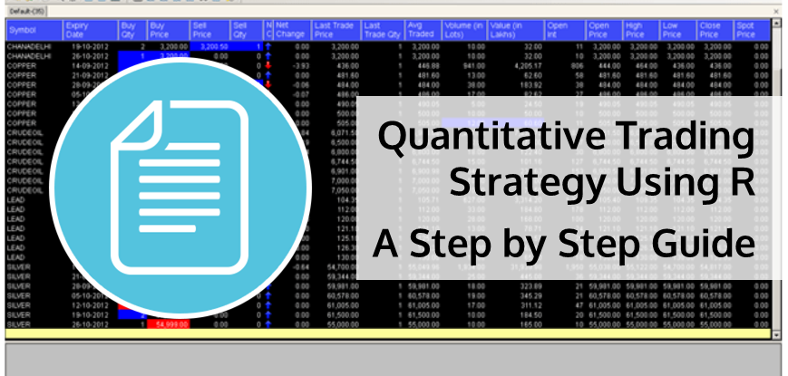 Quantitative Trading Strategy Using R - A Step by Step Guide